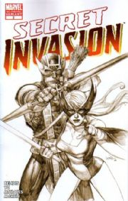 Secret Invasion #2 3rd Third Print Yu Variant (2008) Marvel comic book